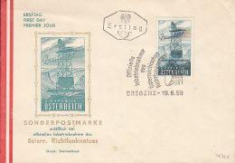 AUSTRIAN RADIO LINK NETWORK, ANTENNAS, COVER FDC, 1959, AUSTRIA - FDC