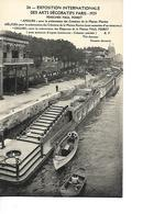 PARIS Péniches Bateaux  Barque  PAUL POIRET - Ponts