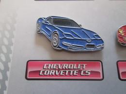 210c Pin's Pins / Beau Et Rare : Thème AUTOMOBILES : CHEVROLET CORVETTE C5 - Corvette