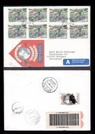 Norway 1996 Mi 1219 Country-postman In Bicycle Expresse R-letter 6938  To Germany F&b 242.jpg - Norway
