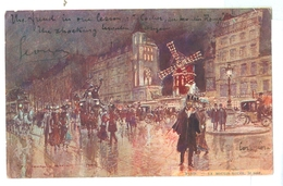 1904, France, Paris, Moulin Rouge At Night. George Stein Printed Art Pc, Used. - Illustrators & Photographers