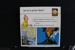 Fiche Atlas,TINTIN (extrait De,Vol 714 Pour Sydney) - Géographie,N°15. Qu'est-ce Qu'un Volcan ? - Collections
