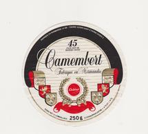 ETIQUETTE DE CAMEMBERT VALLEE 14 AB  POUR CASINO - Fromage
