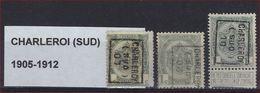 Lot Voorafgestempeld CHARLEROI ( SUD )  WAPENSCHILD Nrs. 860B , 1119B En 1435B  ; Staat Zie Scan ! - Roller Precancels 1910-19