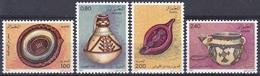 Algerien Algeria 1984 Kunsthandwerk Handicrafts Töpferei Töpferwaren Pottery Krug Krüge Öllampe Oil Lamp, Mi. 846-9 ** - Algerien (1962-...)