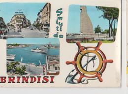 BRINDISI.VEDUTE DIVERSE-VIAGGIATA-1964-.F.G.M.3626 - Brindisi
