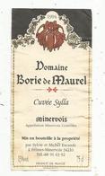 étiquette De Vin, Minervois , Domaine Borie De Maurel ,cuvée Sylla ,S. & M. Escande à Félines-Minervois,34 - Languedoc-Roussillon