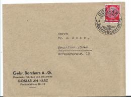 III-Reich XX008 / Formenkuvert Aus Goslar Mit Sonderstempel Zum 3. Reichsbauernerntetaf 1935 Mit Weizenähren Im Stempel - Allemagne