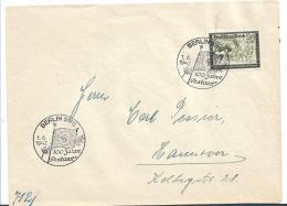 III-Reich XX012 / (1933-1945) Postamt Berlin, 100 Jahre. Sonderstempel Auf 24 Pfg. Reichspost Kameradschaft 1942 - Lettres & Documents