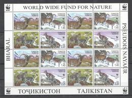 E1422 2005 TAJIKISTAN WWF FAUNA WILD ANIMALS BHARALS 1SH MNH - W.W.F.