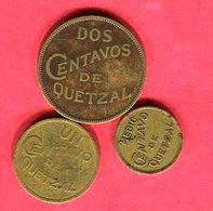 LOT 3 MONNAIES DIFFERENTES TB+ 10 - Guatemala