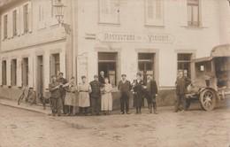 Carte-photo Mulhouse Militaires Bitche Oberhoffen Restaurant De La Vinicole - To Identify