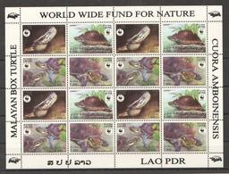 E1425 2004 LAO PDR WWF FAUNA TURTLES 1SH MNH - W.W.F.