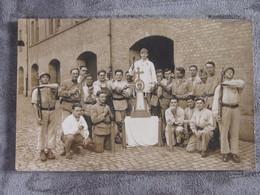 Carte-photo Mulhouse Militaires Bitche Oberhoffen Père Cent - To Identify