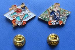 2 Pin's, Sport, COOP, Course D'orientation, Rollerblades, Orientierungs-Lauf, Skating - Badges