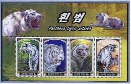 (CL 111 Bis) Corée Du Nord ** N° 3436 à 3439 En Petite Feuille - Le Tigre De Sibérie - - Corea Del Norte