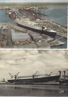 BATEAU-PAQUEBOT-LE FRANCE- LANCEMENT-SAINT NAZAIRE-LIGNE LE HAVRE-NEW YORK- - Steamers