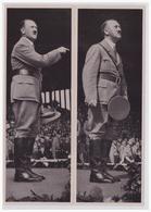 DT- Reich (000267) Propaganda Sammelbild Adolf Hitler Bild 37, Der Redner Adolf Hitler Vor Der Jugend. Reichsparteitag - Germany