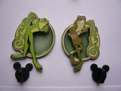 2 Big Pin S Disney Froog 1000 Ex 4,5 X 3cm Double Moule Neuf - Disney