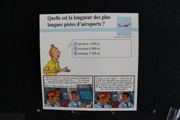 Fiche Atlas, TINTIN (extrait De,Vol 714 Pour Sydney) - Marine Et Aviation N°4, Quelle Est La Longues Pistes D'aéroports? - Collections