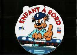 Autocollant  -     Gendarmerie Nationale  -  ENFANT A BORD  (Gendy) - Stickers