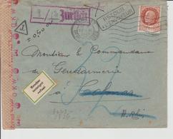 """Enveloppe Avec Timbre PETAIN Et Cachet """" ALLEMAND OCCUPATION"""" - France"""