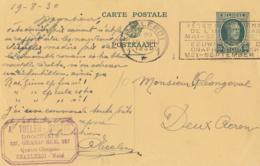 """Belgique CP N° 83 I  Obl. De Charleroi Vers Deux-Acren + Cachet Temporaire """"Fêtes Du Centenaire De L'indépendance Mai- - Enteros Postales"""