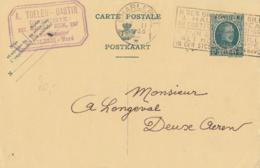 """Belgique CP N° 83 I Obl. De Charleroi Vers Deux-Acren + Cachet Temporaire """"& Ses Groupes De Gilles à Haut Chapeau Au - Enteros Postales"""