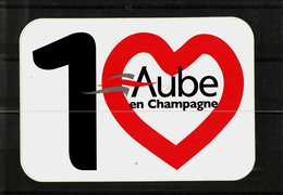 Autocollant  -     10    AUBE EN CHAMPAGNE - Stickers