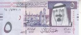 SAUDI ARABIA 5 RIYAL 2012 1433 P-32c KING ABD ALLAH NEW Unc - Saudi-Arabien