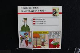 Fiche Atlas, TINTIN (extrait De, Le Sceptre D'Ottokar) - Histoire N°2. Combien De Temps Le Moyen Age A-t-il Duré  ? - Collections