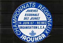 Autocollant  -      REIMS    Championnats Régionaux  JAOUHAR (Journée Nationale Des Jeunes 1987) - Stickers