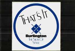 Autocollant  -     BURLINGTON   THAT'S LT - Stickers