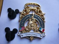 Big Pins Disney Castle 800 Exemplaires 4,5 X 3,5 Cm 2 Attaches  Neuf - Disney