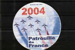 Autocollant  -     Armée De L'Air  2004    PATROUILLE DE FRANCE - Stickers