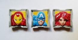 Fève -fèves  Avengers Iron Man Captain América Black Widow - Dessins Animés