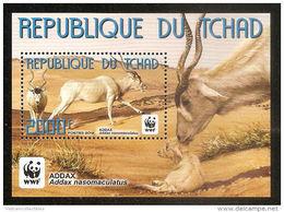 (WWF-508) W.W.F. Chad Addax Antelope MNH Perf Souvenir Sheet 2012 - W.W.F.