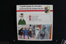 Fiche Atlas,TINTIN (extrait De,Le Secret De La Licorne)-Histoire N°26.Quant Les Chevaliers Portèrent Des Armures De Fer - Collections