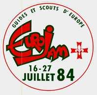 Autocollant  -     Guides Et Scouts D'Europe    Juillet 1984 - Stickers