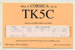 QSL Cards - AK 332457 France - Corsica Island - Radio-amateur