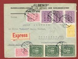 Infla Ab 1 Dez 1923 Ausland Sondertarif Reco  Express Brief - 1918-1945 1. Republik