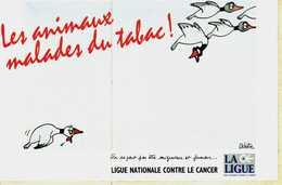 Autocollant  - Lot De 2 -     LES ANIMAUX MALADES DU TABAC  (Dessin Delestre) - Stickers