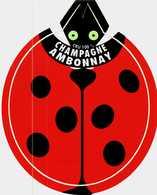 Autocollant  - Lot De 2 -    Buvez Du Champagne    AMBONNAY - Stickers