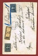 Infla Ab 1 Dez 1923 Ausland Sondertarif Reco   Brief Luftpost Wien - Budapest 2 Scan - 1918-1945 1st Republic