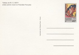 POLYNESIE FRANCAISE - CP ENTIER POSTAL 40f - TABLEAU M.G.BOVY  /1 - Entiers Postaux