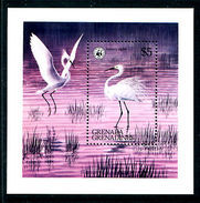 W27 WWF W.W.F. Grenada Grenadines MNH Souvenir Sheet 1978 : Birds / Bird - W.W.F.