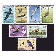 W26 WWF W.W.F. Grenada Grenadines MNH Perf Stamps 1978 : Birds / Bird - W.W.F.