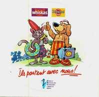Autocollant  -   WISKAS   PEDIGREE   Ils Partent Avec Nous ! Dessin C. Arnould - Stickers