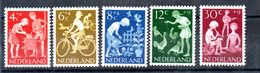 Pays Bas  / Série  N 762 à 766 /    NEUFS ** - Neufs