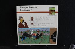 Fiche Atlas, TINTIN (extrait De,Tintin En Amérique) - Animaux Domestiques N°25. Pourquoi Ferre-t-on Les Chevaux  ? - Sammlungen